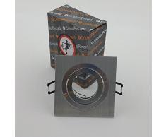CristalRecord, Helium, Faretto a incasso, quadrato, in alluminio