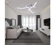 Lampada da soffitto con 3 luci a led, plafoniera moderna a led, lampada da soffitto trifase, lampade a sospensione da interno, bianco caldo bianco freddo