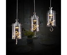 Xh&Yh Lampada LED Creative Design moderno Semplicità sospensione lampadario di cristallo di vetro