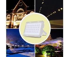 Viugreum Lampada LED Esterni 100W Impermeabile di VI Generazione Basso Consumo Lampada Luce Potente Super Luminosa Faretto da Giardino Garage Bianco Freddo