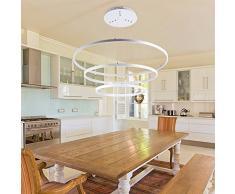 Lampada a sospensione moderna lampada a sospensione Lampada a sospensione in alluminio rotondo per ristorante/camera da letto/soggiorno/studio,1circle-40cm-25W-white