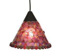 Näve 664001 Lampadario a mosaico Ø 19 cm, Colore Rosso