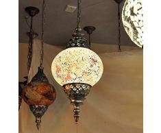 Gzhuang Europeo in stile mediterraneo pendente boema Marocco luci luci portico del corridoio di cristallo lampada lampadario, a destra , 30