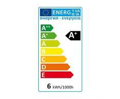 SEBSON lampada LED GU10 BIANCO CALDO 6 W, alogena da 50 W, 500 Lumen, LED COB Spot 36 °, 230 V, confezione da PZ.