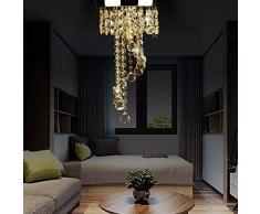 Lampada Moderna da soffitto Plafoniera LED da soffitto,Cristallo Plafoniera per l'Illuminazione da Interno, per Soggiorno Corridoio Sala da Pranzo, E14 Base, 3000-5000K
