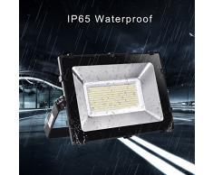 Viugreum Faro Top della Gamma 200W Fari LED Lampade per Esterni, Impermeabili, 24000LM, Luce Bianca Calda SOFFUSA (2800-3200K), Lampada Potente Risparmio Energetico Faretto per Giardino