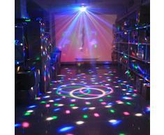 Luci da palco, SOLMORE Mini palla lampada magica fase cristallo rotante sfera LED RGB effetto per KTV discoteca bar club Ntale DJ Magic Ball cristallo Attivazione vocale