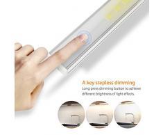 Lampada LED per armadio, illuminazione regolabile del Espositore di colore bianco caldo, 3 confezioni 15 W 800 lumen per cucina, armadio, mensola, illuminazione della vetrina [classe di efficienza energetica A +]