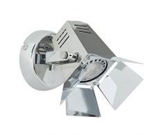 LED 5 W faretto da parete in design di un buenenst rahlers, 1 X GU10 LED incl, 230 Lumen, 3000 K Bianco caldo, metallo, cromato