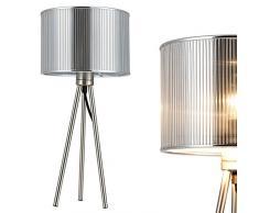 [lux.pro] Lampada da tavolo Berlin (49cm x Ø 23cm)(1 x E14 Sockel) lampada da tavolo lampada da comodino lampada da scrittoio