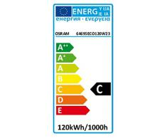 Osram 64695 HV Lampada alogena Haloline ECO, R7s 230 V, 120 Watt, L 74.9 mm, classe energetica C