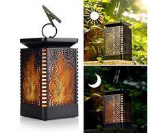 ZYDJ D 96LED Lampada Solare Giardino, Luci Esterno Energia Solare Impermeabile Effetto Danza Fiaccola,per Patio Giardino Esterno1 Pack
