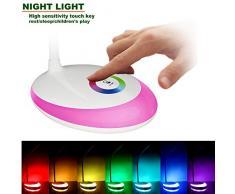 HEIMDALL lampada scrivania lampada occhio protezione LED con 3 livelli di luce di notte di multi-colore di illuminazione regolabile (rosso)