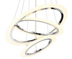 LED design plafoniera lampada a sospensione lampadario soffitto luce illuminazione Ø 50cm 36W bianco caldo