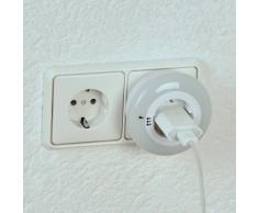 Unitec 41677 - Luce LED notturna tonda, con cambio colore e salvapresa