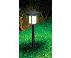 Ranex 5000.496 - Paletto con illuminazione LED a energia solare, da giardino, 53 cm, 200 Lumen