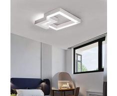 ZMH Plafoniera LED da soffitto I lampada moderna da soffitto 32W 40cm lampadario Dimmerabile bianco caldo| neutro | bianco freddo con il telecomando per camera da letto o soggiorno