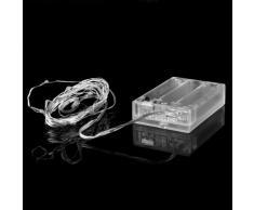 Natale illuminazioni - SODIAL(R) 40 LED luce della stringa della batteria della batteria bianca calda goccia operato