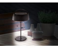 Naeve Leuchten, Lampada da Tavolo a LED e a energia Solare, Nero (Schwarz)