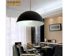 San Tai@Lampada lampadario a sospensione design retrò,Nero,ferro,50cm