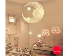 lonfenner Creative Moon and Stars lampadario/lampada da soffitto LUNA E STELLE, per cameretta, soggiorno