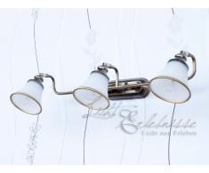 specchio luce art nouveau specchio in bronzo 3xE14 bracci mobili immagine lampada da parete lampada da parete bagno soggiorno soggiorno