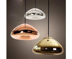 Lampada a sospensione rotonda in vetro creativo Tom Dixon Void illuminazione interna a goccia per caffè/negozio di abbigliamento/ristorante/bar caffetteria, Chrome