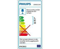Philips Lighting 333613116 myLiving Cinnabar Lampada da soffitto, LED 2700k, Bianco 25 x 25 x 7 cm