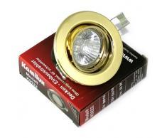 14 Pack Luca faretto da incasso 230 V colore oro IP20 alogena 50 W GU10 attacco