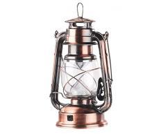 LANTERNA RETRò BRONZO LAMPADA STILE VINTAGE COME AD OLIO 1,2W AD ENERGIA SOLARE