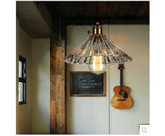 GS~LY Creative in ottone lampadario di cristallo soggiorno sala da pranzo Villa lampada 25CM