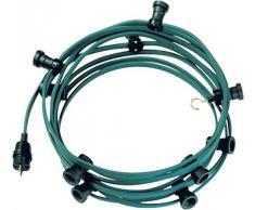 Bachmann 740.005 - Catena di luci con spina, connettore e 10 porta lampade, plastica