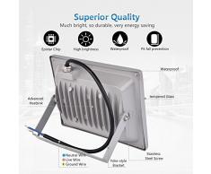 Cshito - Riflettore LED Lampada da Esterno 30 Watt ad ALTA EFFICENZA ENERGETICA 220 Volt Bassi Consumi Faretti Impermeabili da Giardino Luce Bianca Fredda