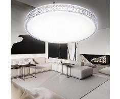 Plafoniera Per Soggiorno Bianco : Plafoniere in cristallo color bianco da acquistare online su livingo