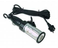 Electraline 363011 Lampada da Cantiere con Interruttore, Adatta ad Ambienti Esterni IP44, per Officina/Laboratorio/Cantina/Garage/Ispezione, Cavo 5 m