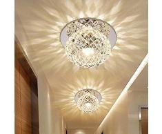 5W LED Plafoniera Moderna da Incasso A Incasso Illuminazione A Soffitto E Applique da Parete Spot di Cristallo Effetto Lampada Rotonda per Corridoio