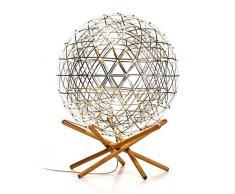 moooi Raimond tenseg rity R61 LED lampada da pavimento, in acciaio inox con struttura in rovere H 80 cm Ø 61 cm altezza 26 cm Bianco Caldo 2700 K 644lm