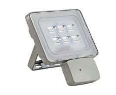 Viugreum 20W 2400 LM Faro LED con Sensore di Movimento Esterni IMPERMEABILE Risparmio Energetico Basso Consumo Lampada Faretto da Garage Giardino LUCE BIANCA NON GIALLA