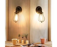 Applique Vintage Applique Industrial Regolabile in Metallo Lampade Da Parete Interno Lampade Rustiche E27 per Bar Caffè Hotel Ristorante Loft e Cucina (Bronzo)