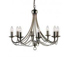 Searchlight 6348-8AB Maypole in ottone antico-Lampada da soffitto a 8 luci