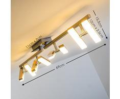 Plafoniera LED Sakami - Lampada da Soffitto 1400 Lumen 3000 Kelvin - 8 Spot Faretti LED mobili - Plafoniera Design Moderno e Personalizzabile