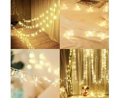 Catena Luminosa 5m 40 LED Luci Stringa Stelle USB LED Stringa di Luci, Decorativa da Interni e Esterni per Festa, Giardino, Bar, Natale, Halloween, Matrimonio Bianco Caldo