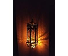 Lampada antica marocchina, 19 '' | Lanterna esterna e interna | Lampada a sospensione | Lampada a sospensione, luce