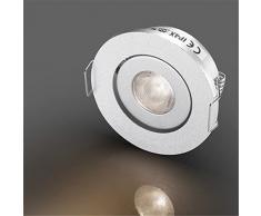 LED Mini piccola riflettori Fixtures / faretto Downlight soffitto lampade a incasso per Cree XPE 3W bianco caldo 3000K + driver