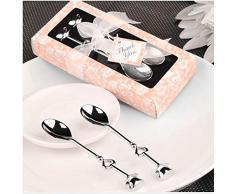 Bomboniera Cucchiaio Cucchiaino ACCIAIO caffè spoon di nozze regalo matrimonio