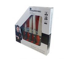Bergner Masterpro Gourmet - Set di coltelli da cucina con manico in plastica