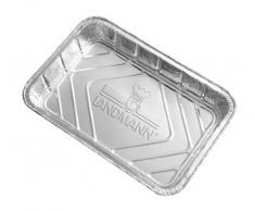 Landmann 0312 - Accessorio per Barbecue, vassoio in alluminio metallico, 31,5 x 22 x 8,5 cm