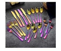 Berglander Set di posate 30 pezzi, acciaio inossidabile con placcato in titanio colorato, posate multicolor, posate, servizio di posate servizio per 6 (30 pezzi)