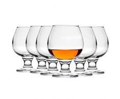 Bicchiere per brandy/cognac Snifter - in vetro - 390 ml - 6 pezzi