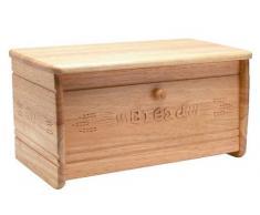 T&G Woodware Heritage - Portapane in Legno di hevea Intagliato a Mano 440 x 220 x 225 mm
